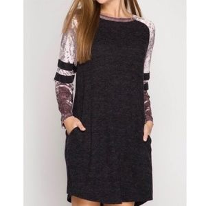 Dresses & Skirts - *ONE LEFT*Sporty Varsity Style Shift Dress